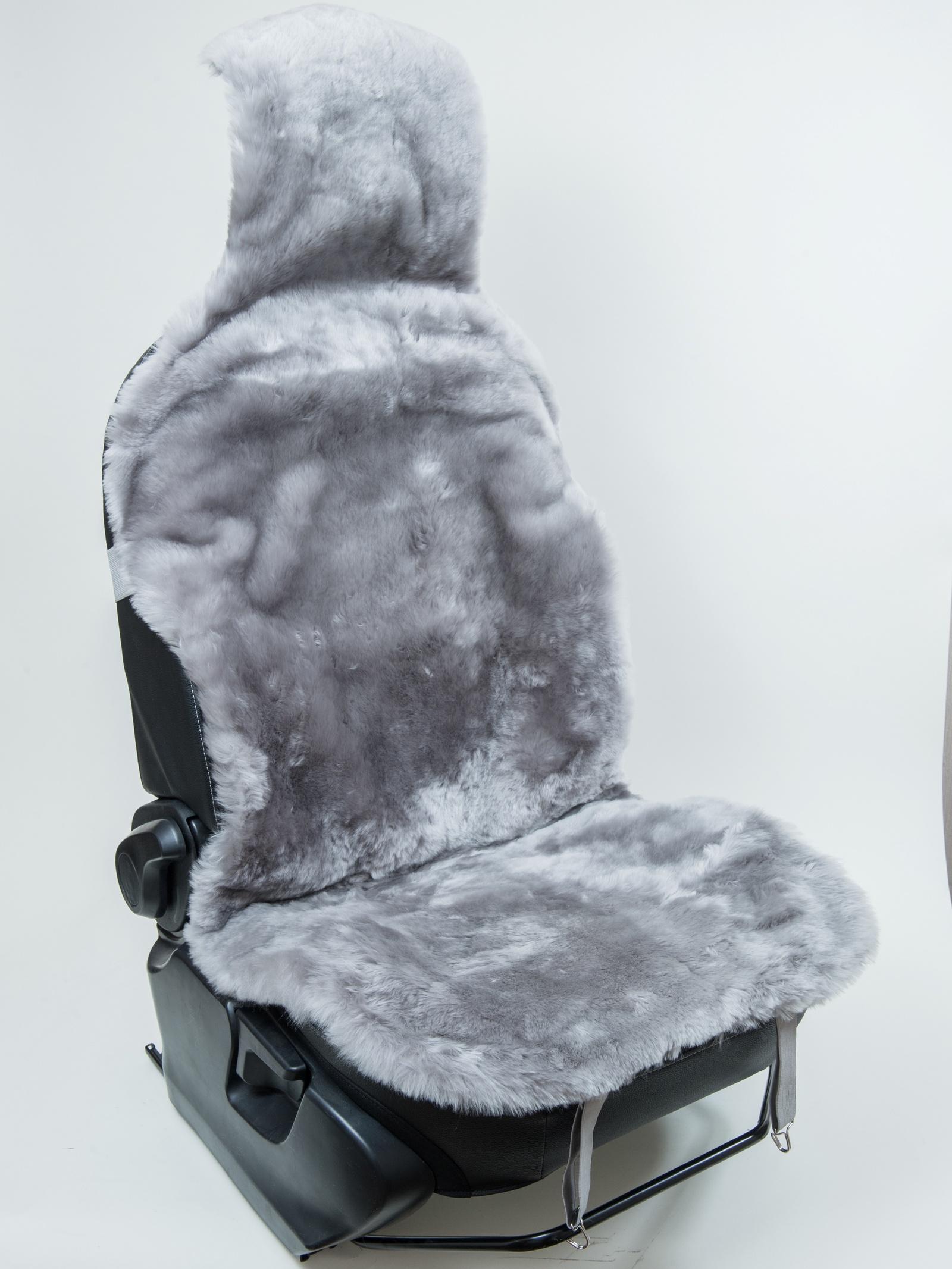 Накидка на сиденье OVINOS Накидка из мутона, цвет серый, серый накидка защитная для животных avtoporyadok на переднее сиденье с карманом цвет серый 120 х 49 см