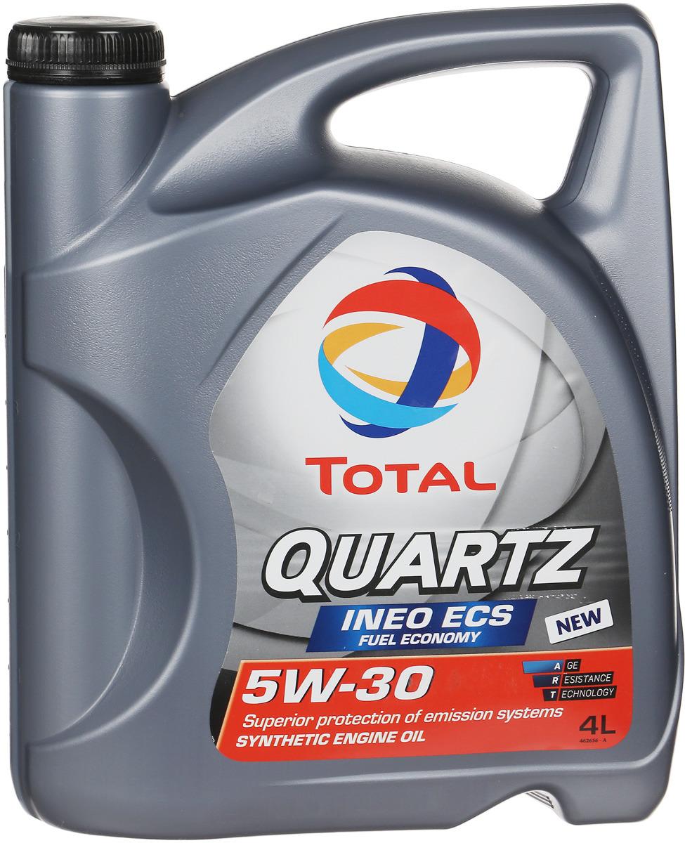 Моторное масло Total Quartz Ineo ECS 5w-30, 4 л total quartz ineo ecs 5w 30 4 л