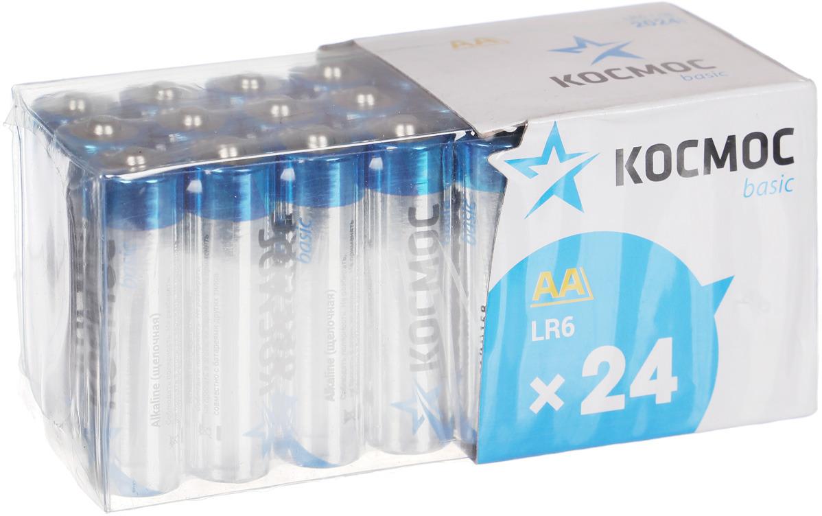 Набор алкалиновых батареек KOSMOS, тип LR6 (АА), 24 шт стойка телескопическая artmoon ajaks с двумя полками 70 5 x 24 x 245 см