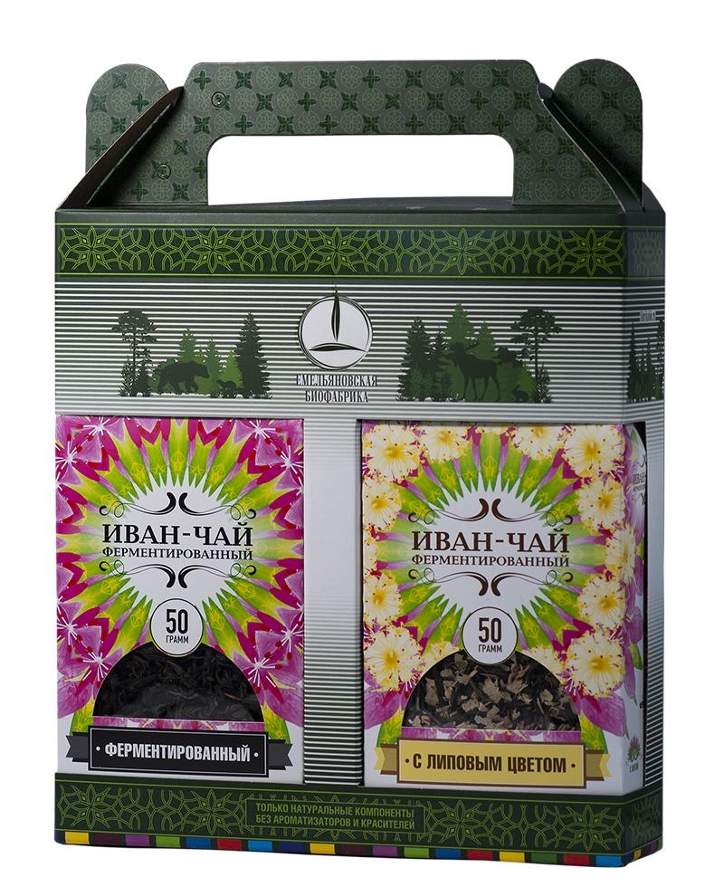 Чай листовой Емельяновская Биофабрика Подарочный Набор Иван-чай с Липой, 100 гр. жуков иван самый полезный самоучитель работы на компьютере