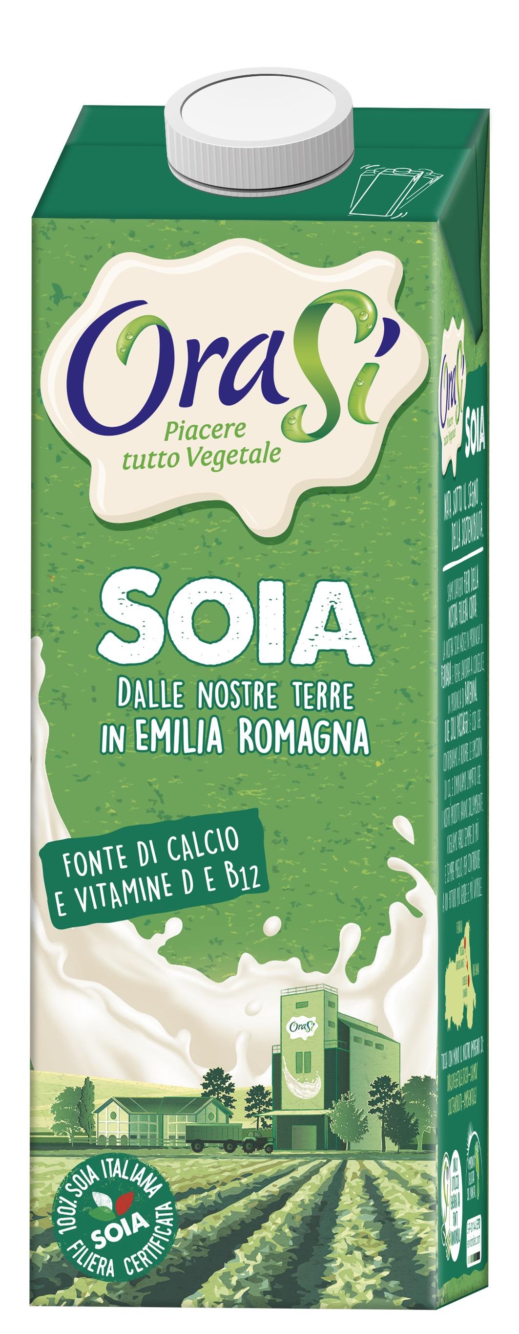 Растительное молоко orasi Soia Соевый напиток, обогащенный витаминами 1л Тетра Пак, 1000 ponti топпинг соевый glassa alla soia на основе бальзамического уксуса di modena 250 мл