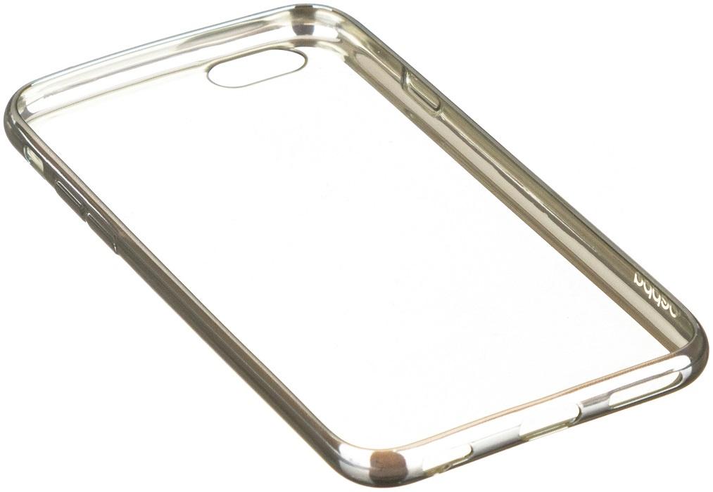 Чехол для сотового телефона Deppa Gel Plus Case и защитная пленка для Apple iPhone 6/6S Plus, серебристый