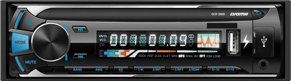 Автомагнитола Digma DCR-380B цифровая фоторамка digma pf 105bg white