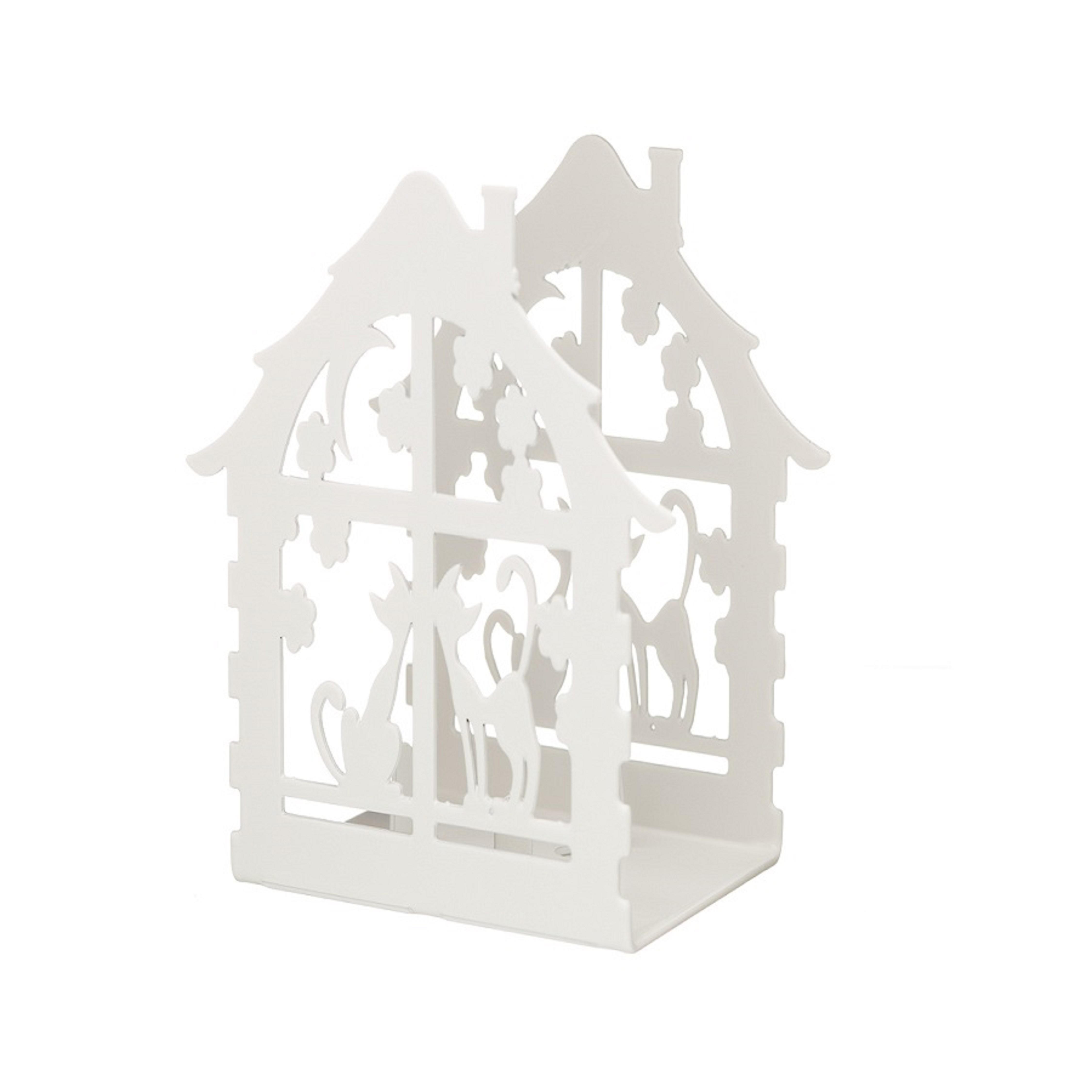 Подсвечник для чайной свечи Домик с кошками белый bs 557 подсвечник домик подарков 1146458