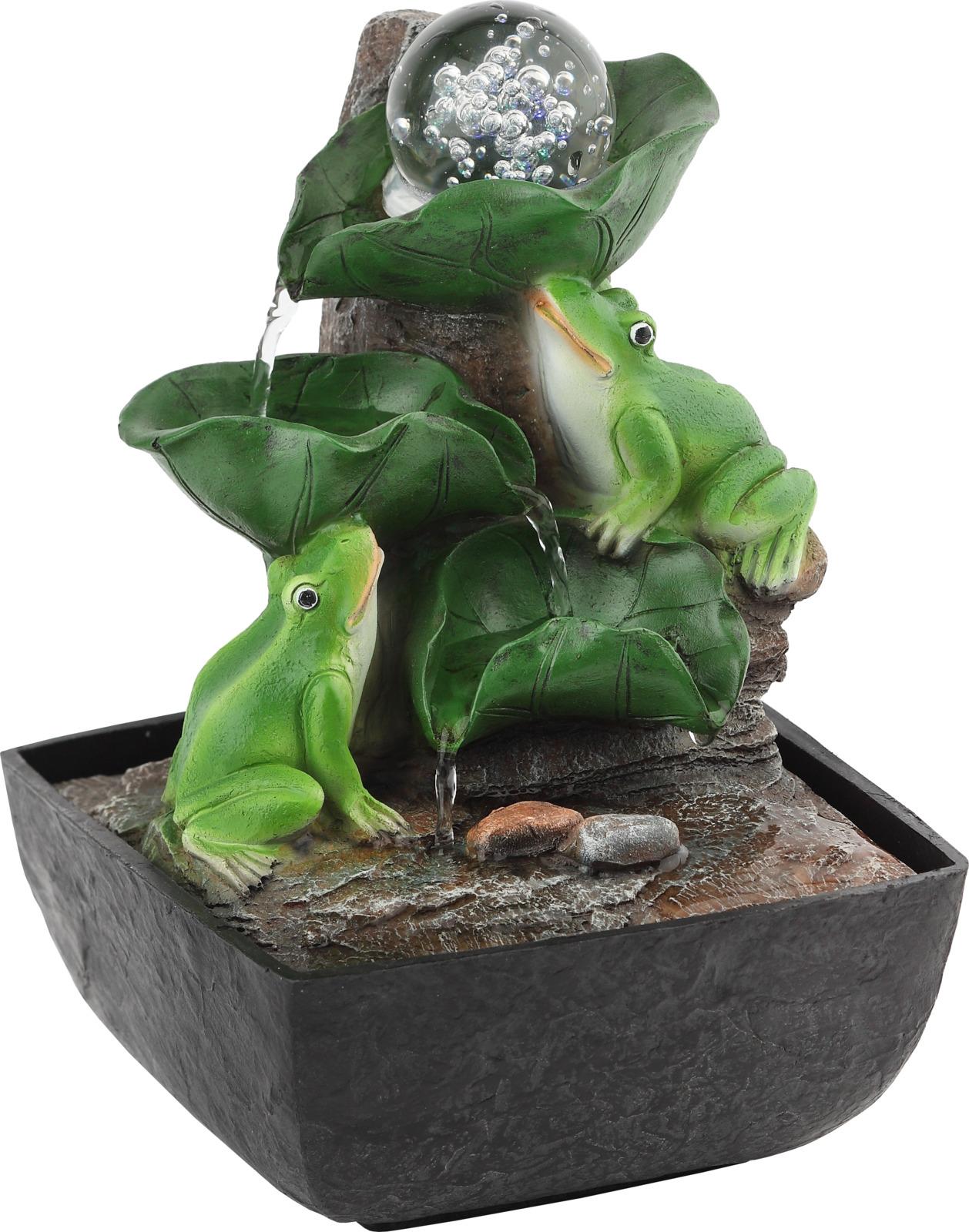Домашний фонтан Green Apple Лягушки с шаром настольный, с подсветкой фонтан садовый green apple gwxf02930 чаша