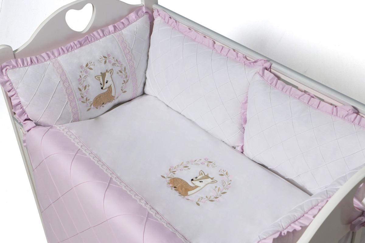 Фото - Бортики для детской кровати Bambi 9 предметов с валиками бортики в кроватку лапуляндия бортики домики для мальчика 120х60