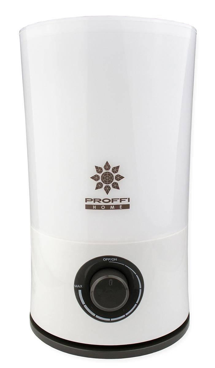Увлажнитель воздуха PROFFI ультразвуковой с LED подсветкой корпуса, 6 цветов, белый, бирюзовый, зеленый, красный, фиолетовый, желтый, сиреневый