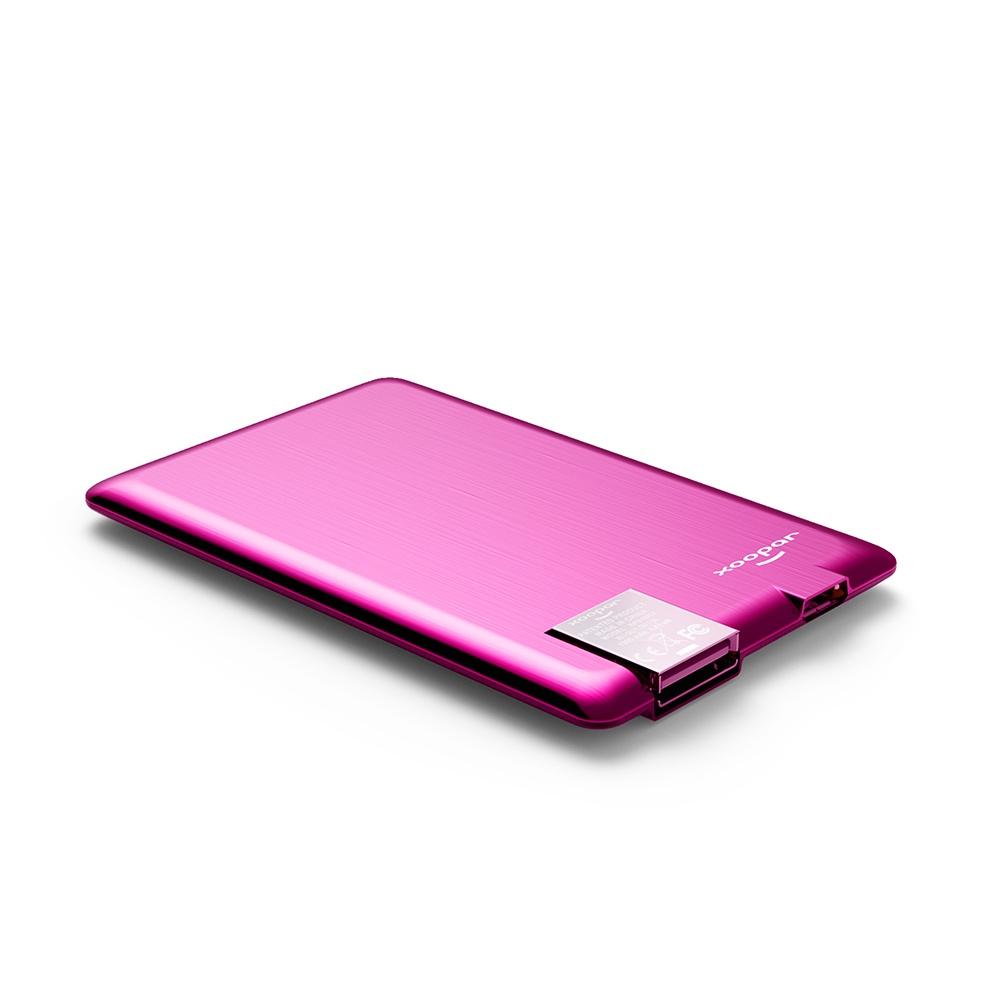 Внешний аккумулятор Xoopar Powercard, розовый аккумулятор внешний monster powercard turbo 133338 00 space grey