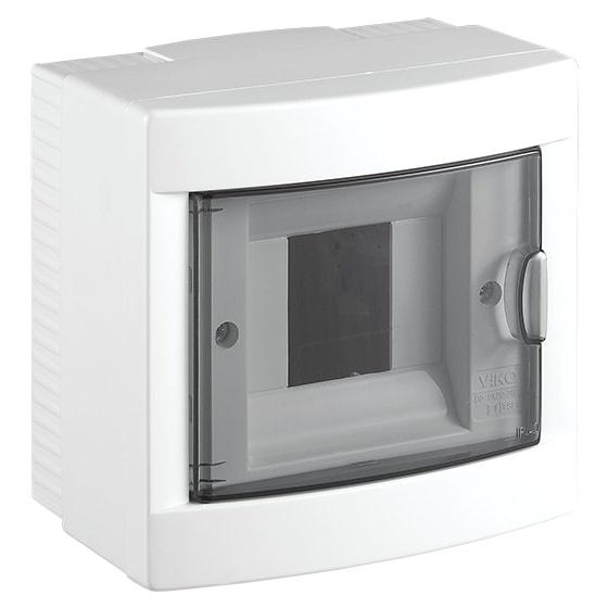 Распределительный щит VIKO на 4 автомата навесной, белый блок viko vera 9068 2189