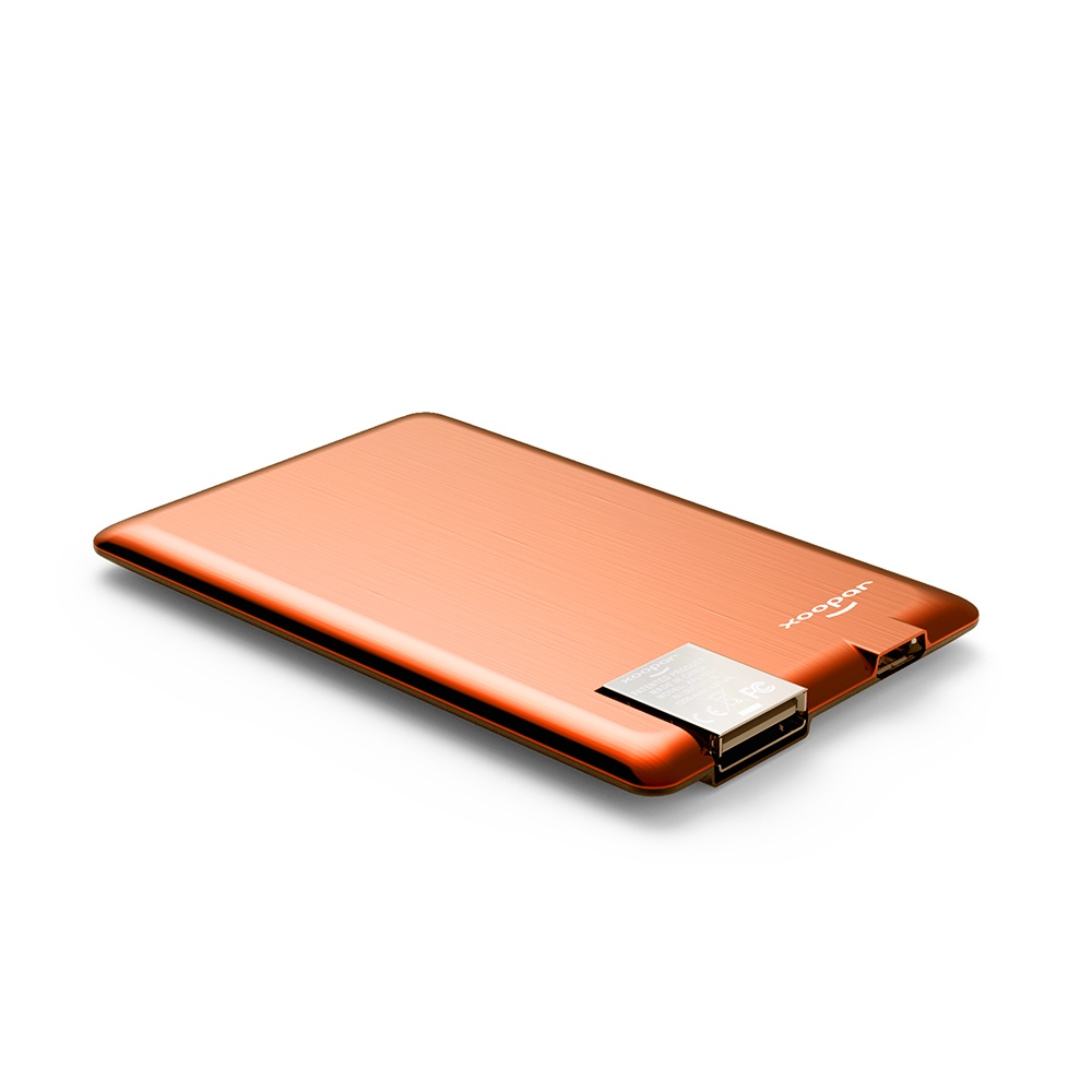 Внешний аккумулятор Xoopar Powercard, оранжевый аккумулятор внешний monster powercard turbo 133338 00 space grey