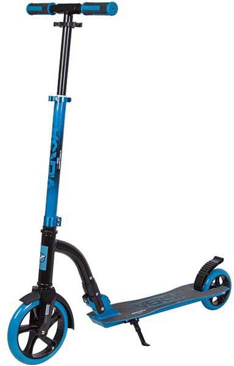 Самокат городской Novatrack Versa, 2-колесный, 200.VERSA.BL7, голубой самокат городской foxx smiles складной 2 х колесный голубой