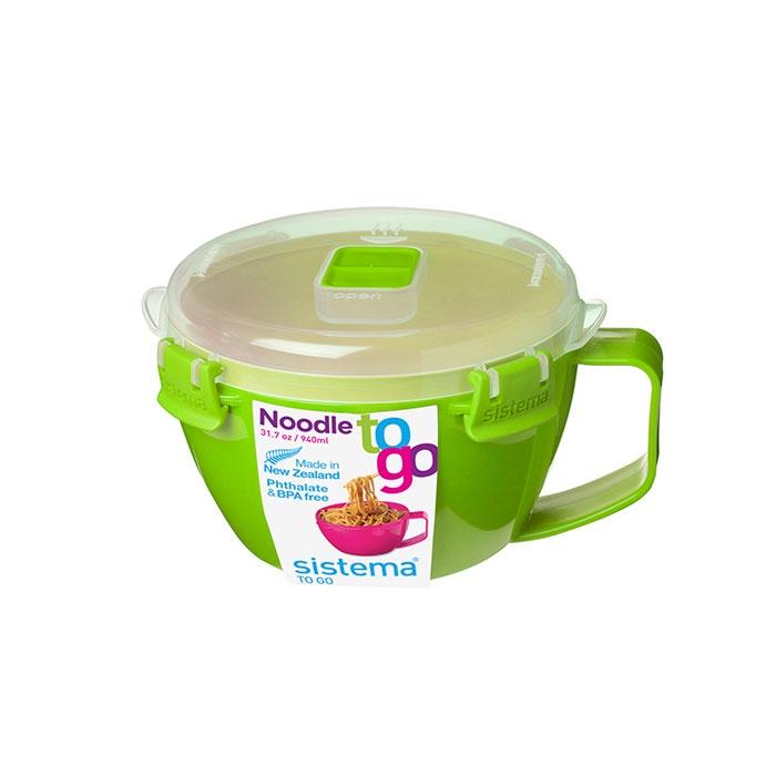 Контейнер пищевой Sistema 21109_Зеленый, Пластик21109_ЗеленыйПрактичное решение для перекуса вне дома – удобно брать с собой.Идеальное решение для подогрева и употребления супа, лапши и горячих напитков.Разогрейте содержимое в микроволновой печи и наслаждайтесь любимыми блюдами или напитками прямо из кружки.Отсутствие брызгов в микроволновой печи – паровыпускное отверстие.Подходит для использования в холодильнике и морозильной камере.Плотное закрытие – фирменные защелки Sistema.Легко моется – можно мыть в посудомоечной машине.Безопасный – не содержит бисфенол А и фталаты.Разработано и произведено в Новой Зеландии.