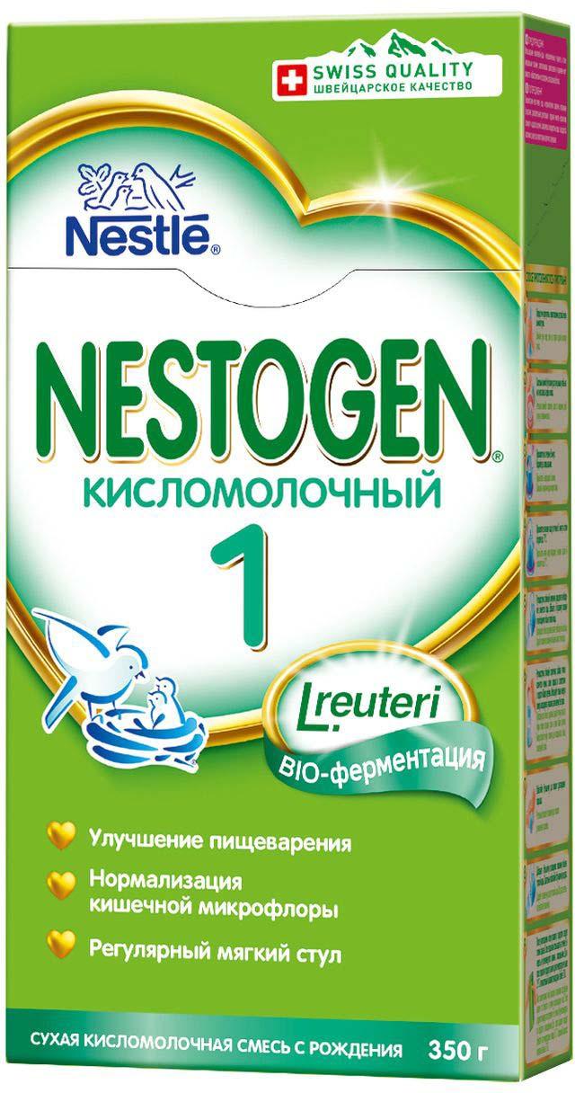 Смесь сухая Nestogen Кисломолочный 1 быстрорастворимая с 0 месяцев, 350 г нутрилон кисломолочный 1 смесь сухая молочная для детей 400г