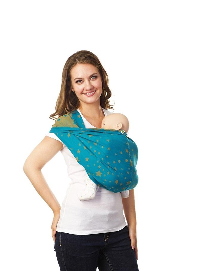 Слинг Mum's Era карман Звездное небо бирюзовый mum s era слинг шарф сердца