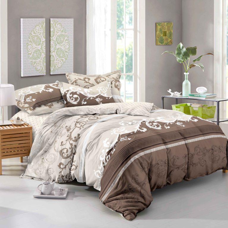 цена Комплект постельного белья SL 06261, бежевый онлайн в 2017 году
