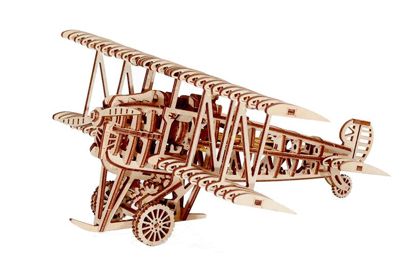 Механический конструктор из дерева Wood Trick Самолет