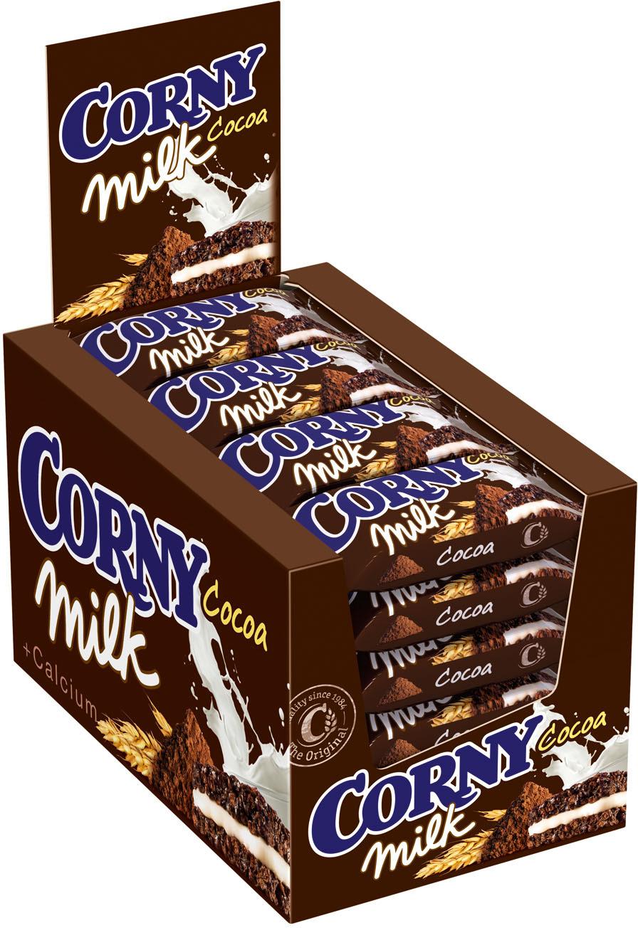 Corny Milk Cocoa батончик злаковый c молоком и какао, 24 шт corny milk cocoa батончик злаковый c молоком и какао 30 г