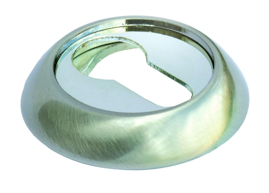Накладка дверная Morelli MH-KH SN/CP ручка дверная morelli diy 02р sn cp никель белый хром