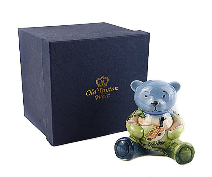 Статуэтка Old Tupton Ware Мишка Сельская идиллия, голубой, синий, зеленый, бежевый old