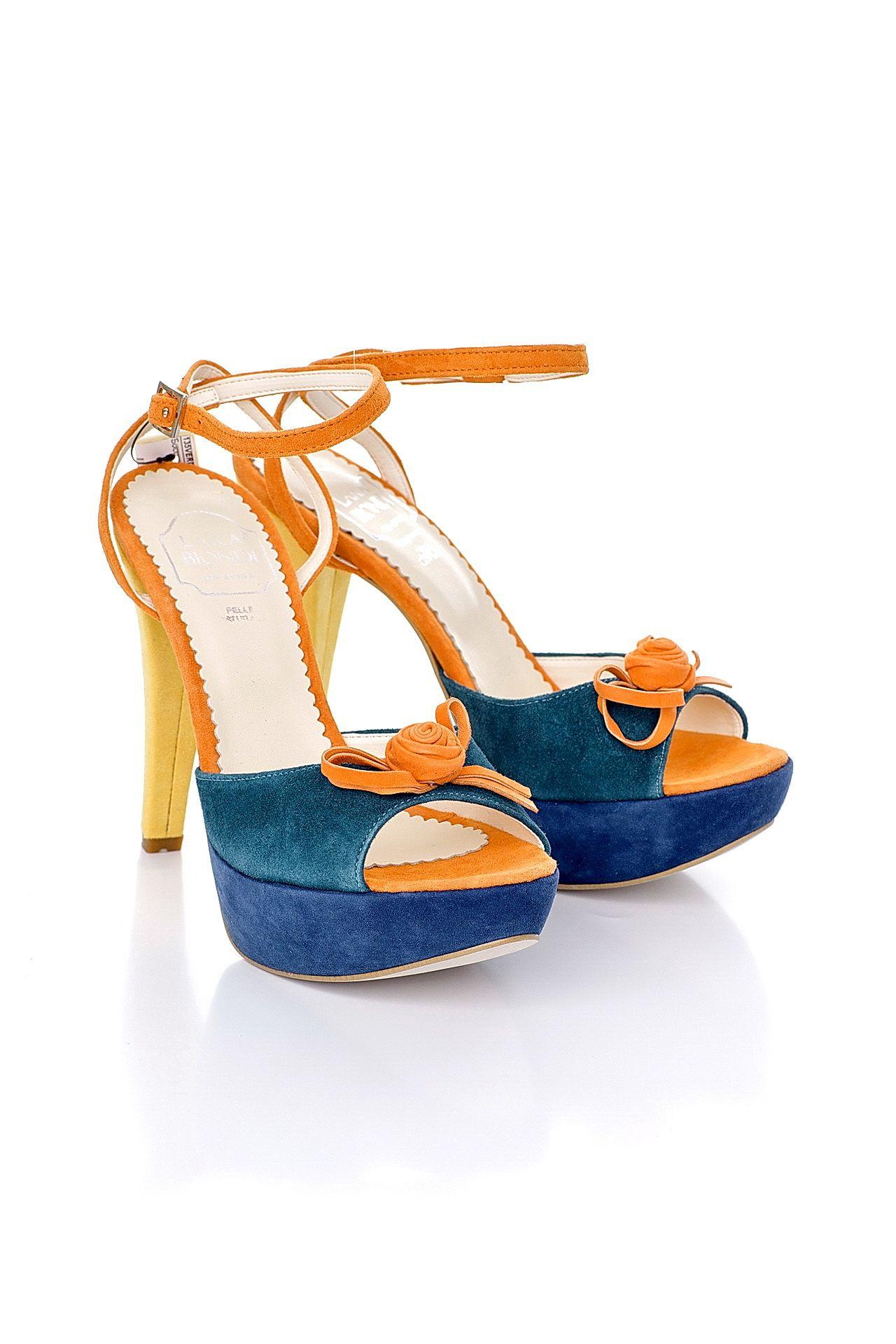 Босоножки LARA BIONDI темно синие замшевые туфли мужские