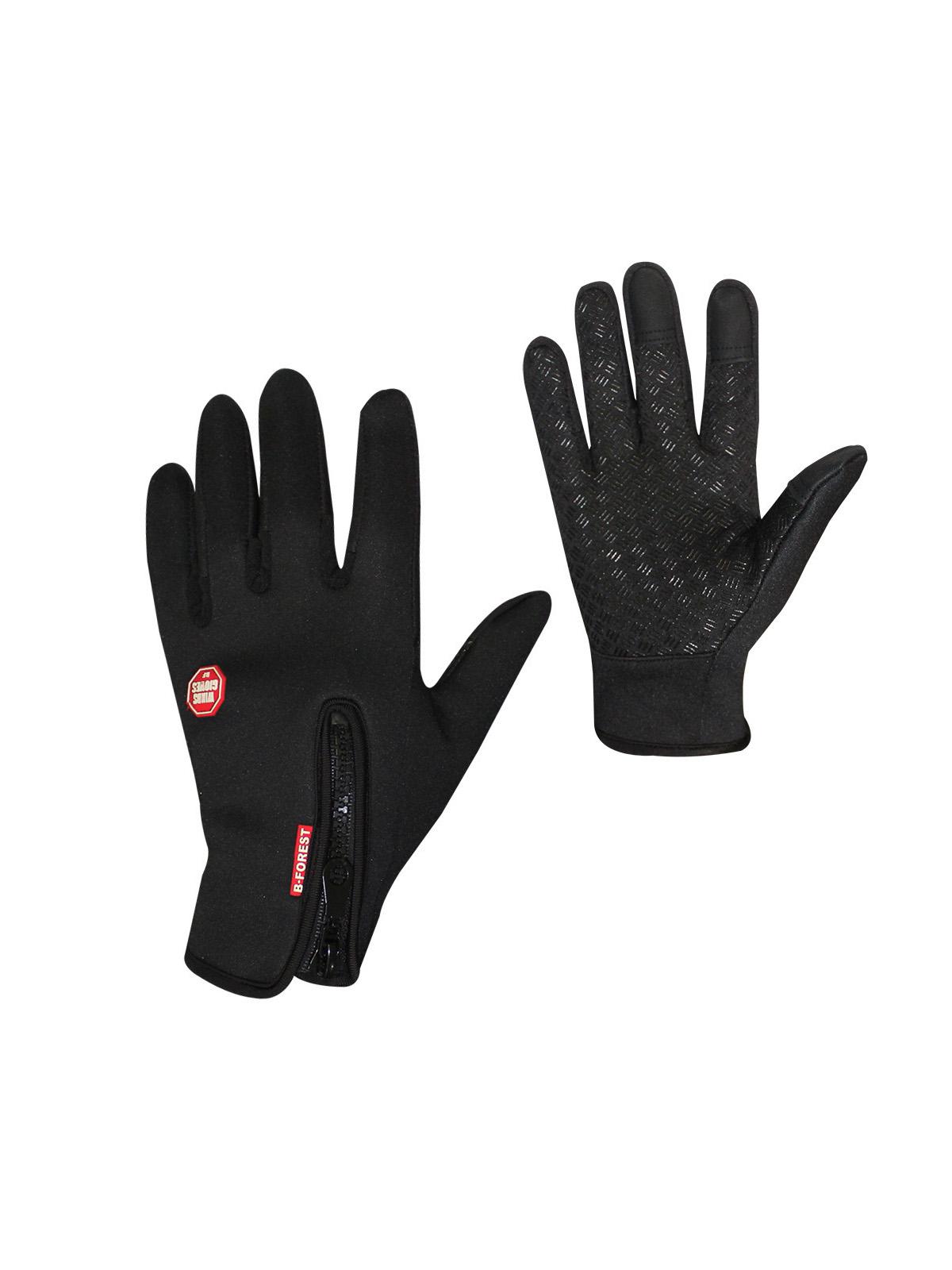Перчатки горнолыжные MoscowCycling MC-GLOVE-01-M, черный