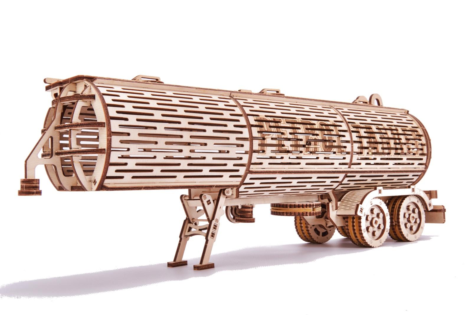 Механический конструктор из дерева Wood Trick Прицеп Цистерна