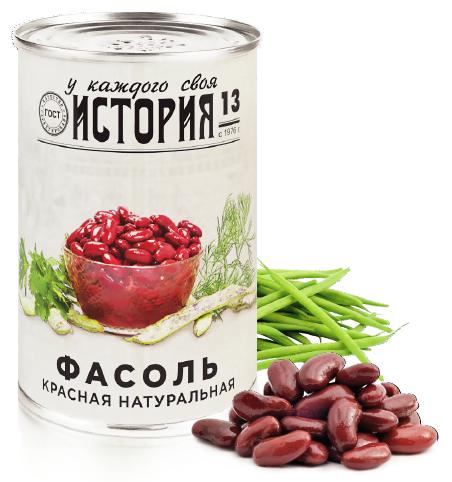 Овощные консервы История И13 Жестяная банка, 425 фасоль красная натуральная фрау марта 310 г