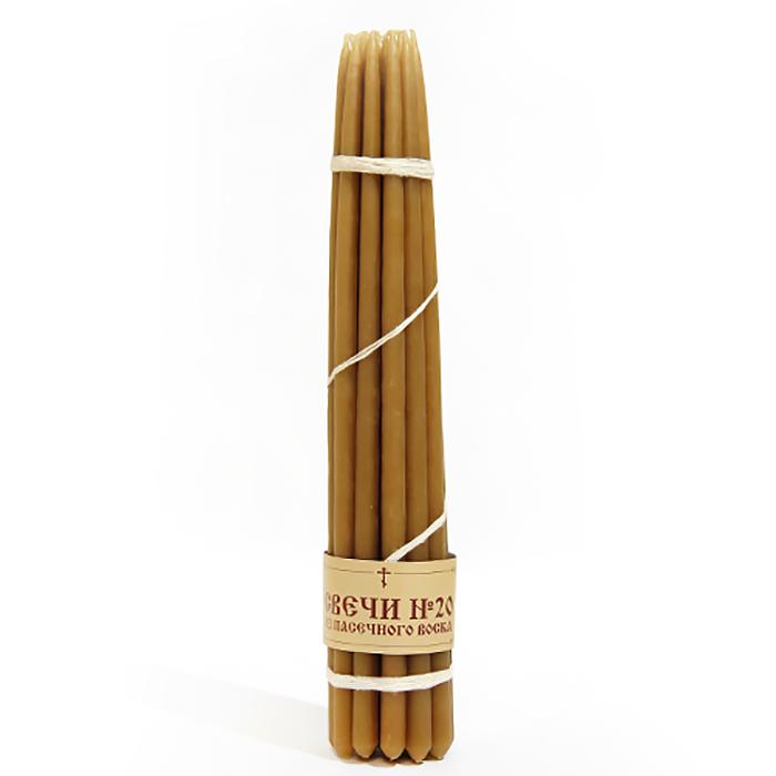 Набор свечей Символик Sv№20v_20Sv№20v_20Набор свечей из натурального воска по традиционной технологии! Количество свечей 20 шт. Длинна одной свечи 31 см.