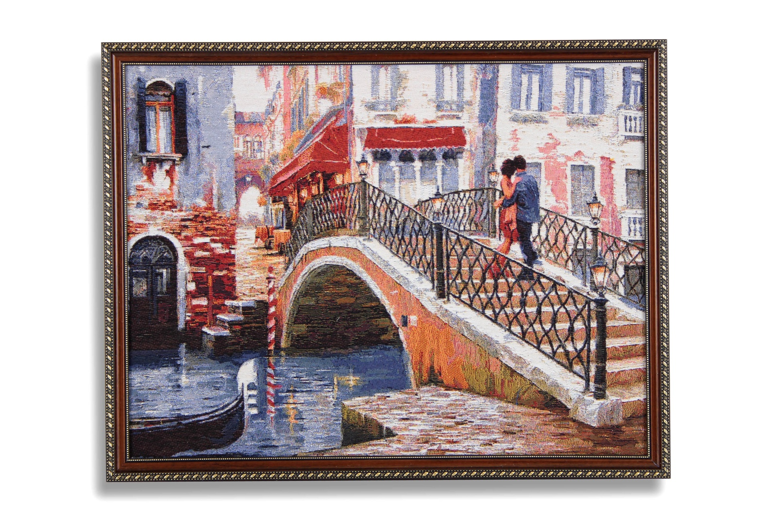 Картина Магазин гобеленов поцелуй в Венеции 53*67 см, Гобелен картина поцелуй