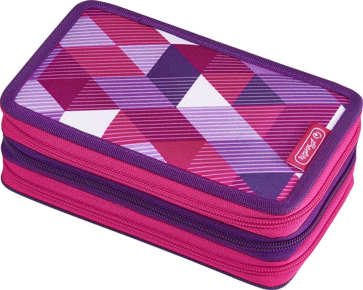 Пенал с наполнением Herlitz Pink Cube, 50021062, 31 предмет herlitz herlitz пенал с наполнением 31 предмет horses