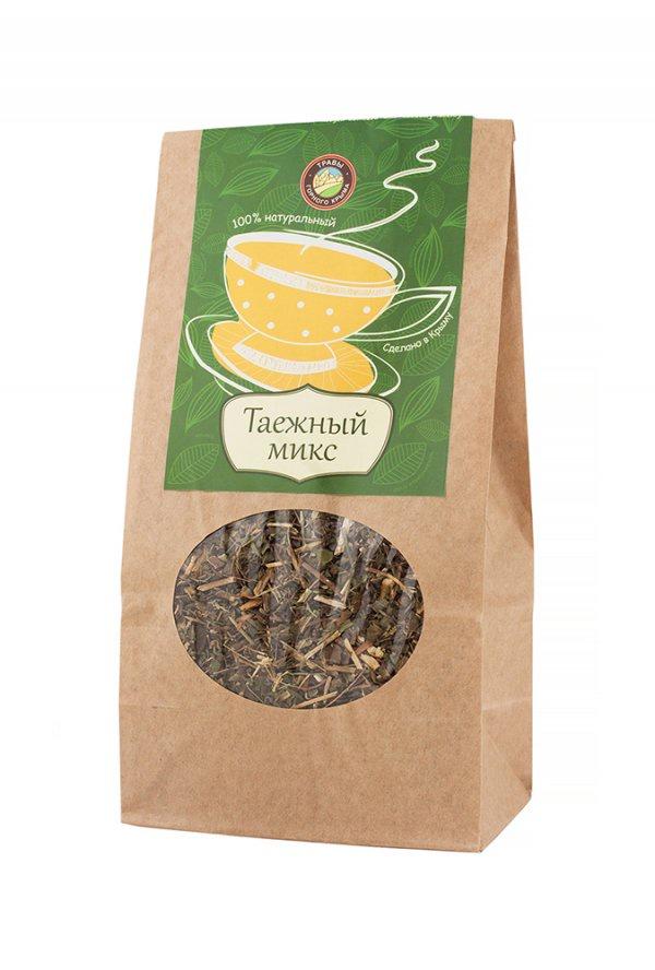 Чай листовой Травы Горного Крыма Таежный микс чай травяной травы горного крыма мята 50 г