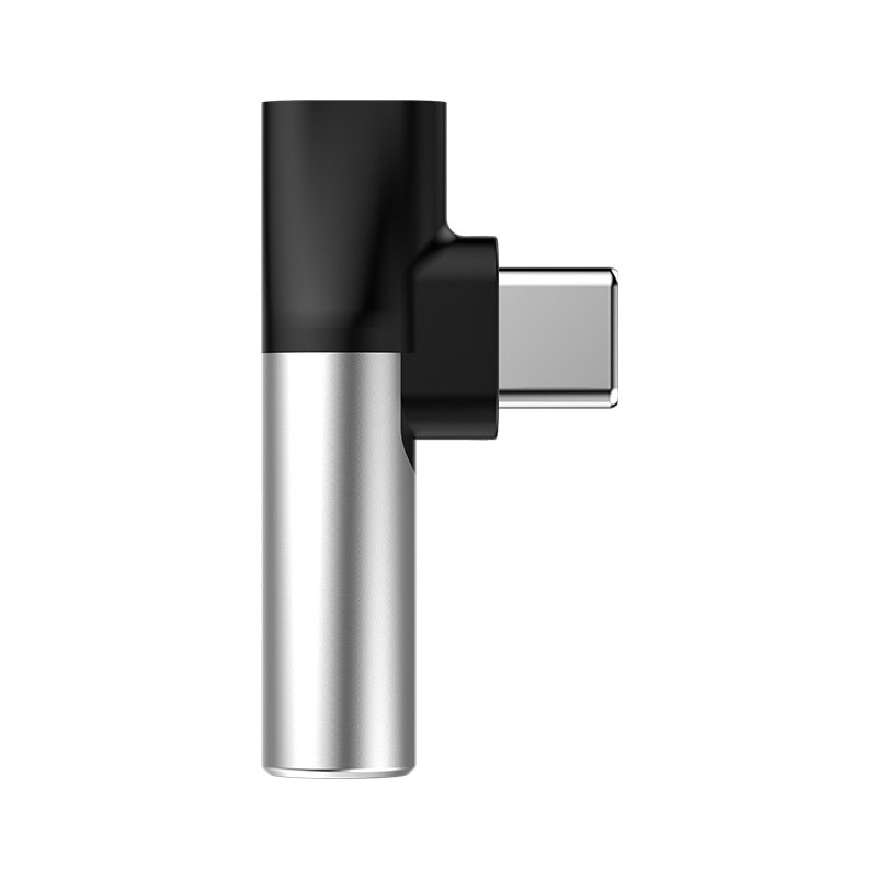 Адаптер-переходник Baseus CATL41-S1, серебристый адаптер baseus x men audio radiator red acsr xj09