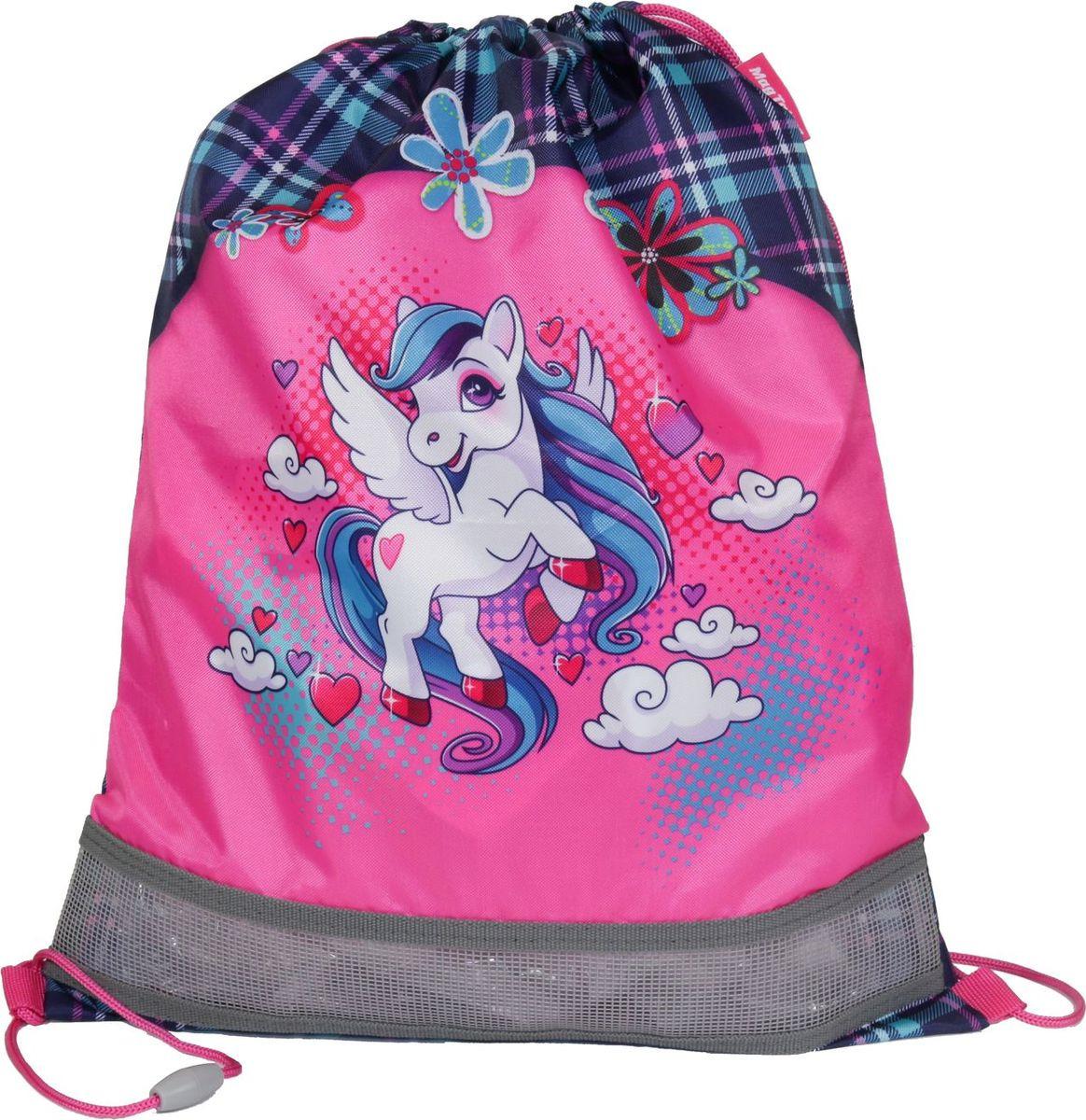 Сумка для сменной обуви и одежды MagTaller Evo Unicorn, 31816-02, розовый, голубой, 34 х 46 см цена в Москве и Питере