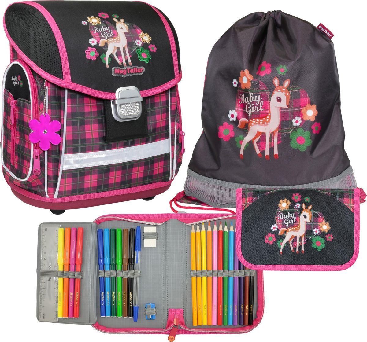 Ранец школьный MagTaller Evo Fawn, с наполнением, 21815-03, разноцветный, 37 х 30 21 см