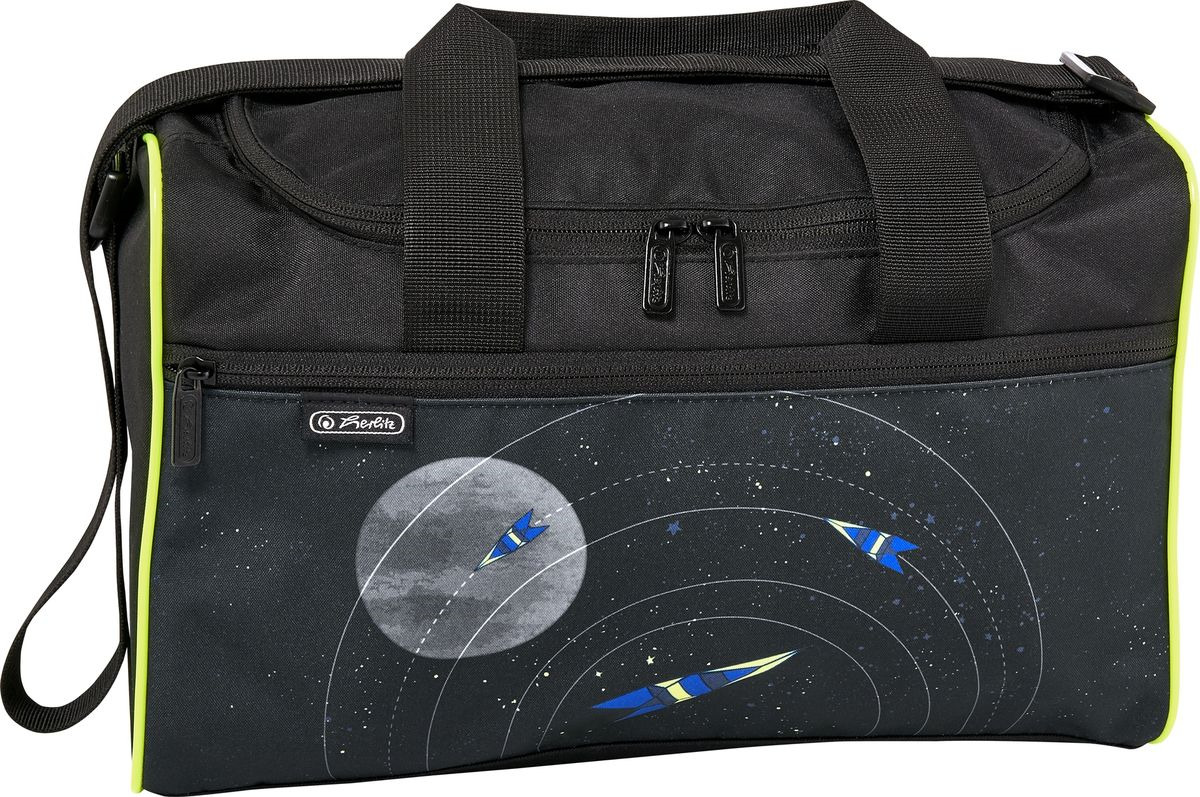 Сумка спортивная Herlitz XL Space, 50021895, черный, 25 х 35,5 х 13,5 см сумка herlitz be bag сиреневая