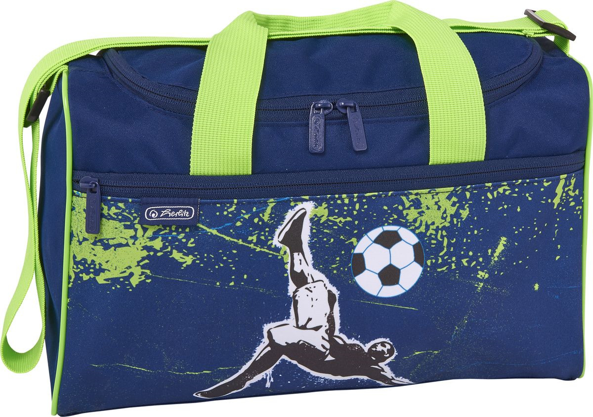 Сумка спортивная Herlitz XL Kick it, 50021901, синий, 25 х 35,5 х 13,5 см сумка herlitz be bag сиреневая