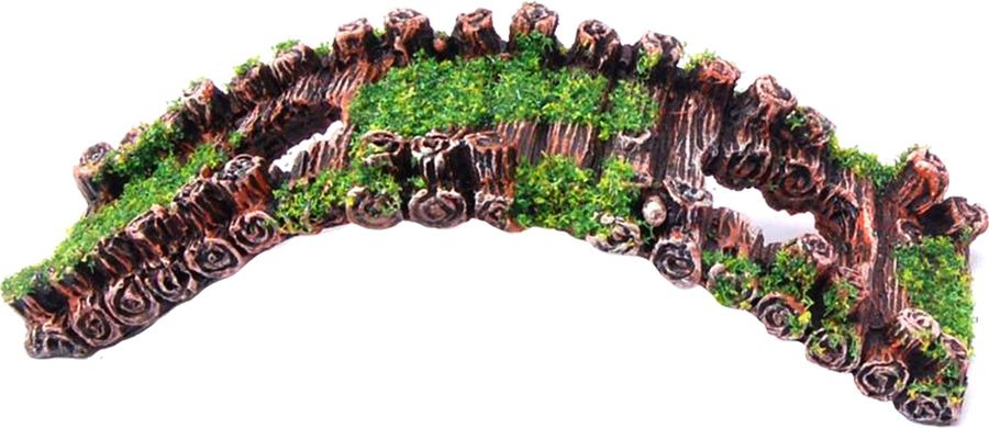 Декорация для аквариума Fauna International Мостик, FIAD-1351, 17 х 7 х 5 см декорация для аквариума fauna international домик в бочке fiad 1227 16 х 11 х 10 см