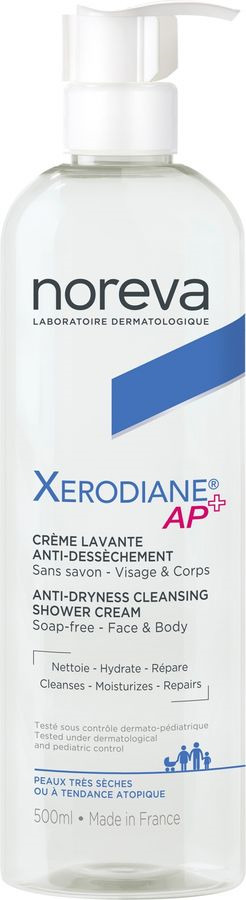 Крем для лица Noreva Xerodiane AP+, очищающий, пенящийся, 500 мл Noreva