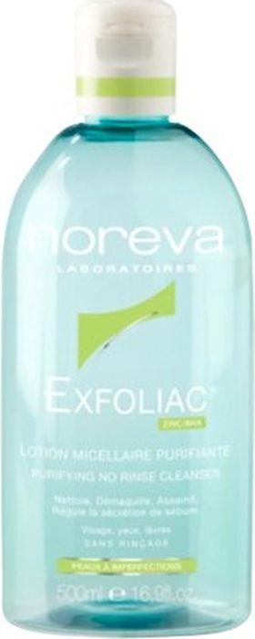 Мицеллярный лосьон Noreva Exfoliac, очищающий, 500 мл недорго, оригинальная цена
