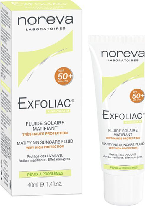 Эмульсия для кожи Noreva Exfoliac, матирующая, солнцезащитная, SPF50, 40 мл
