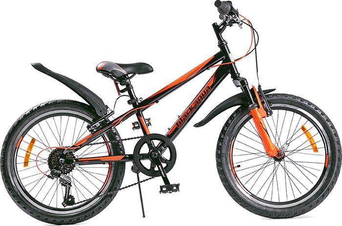 Велосипед Black Aqua Cross 1221 V, черный, лимонный, колесо 20, рама 10