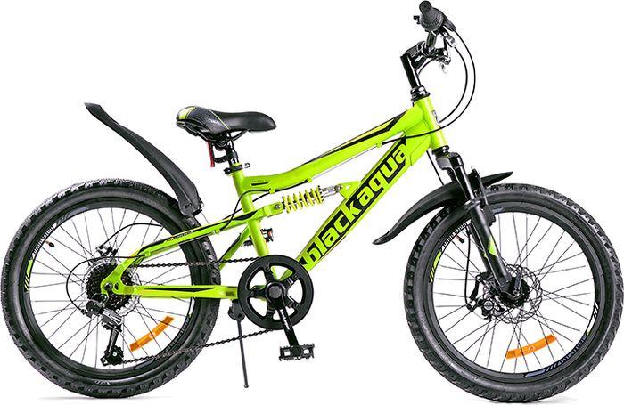 Велосипед Black Aqua Mount 1223 D Matt, зеленый, черный, колесо 20, рама 13