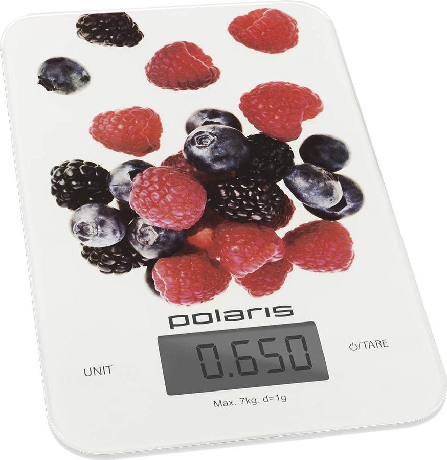 Кухонные весы Polaris PKS 0740DG Berries, белый