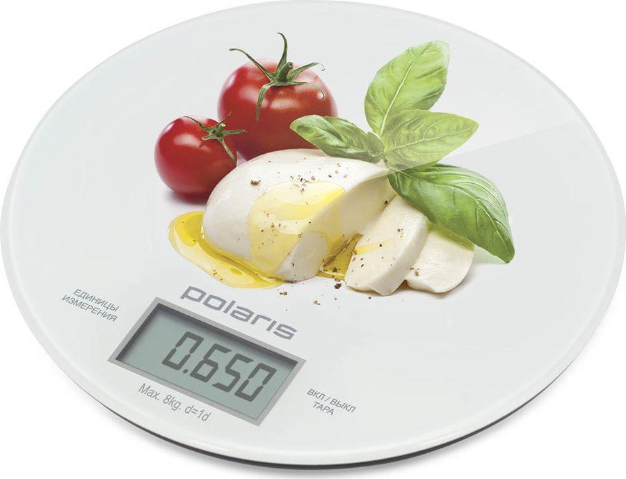 Кухонные весы Polaris PKS 0835DG Caprese, белый