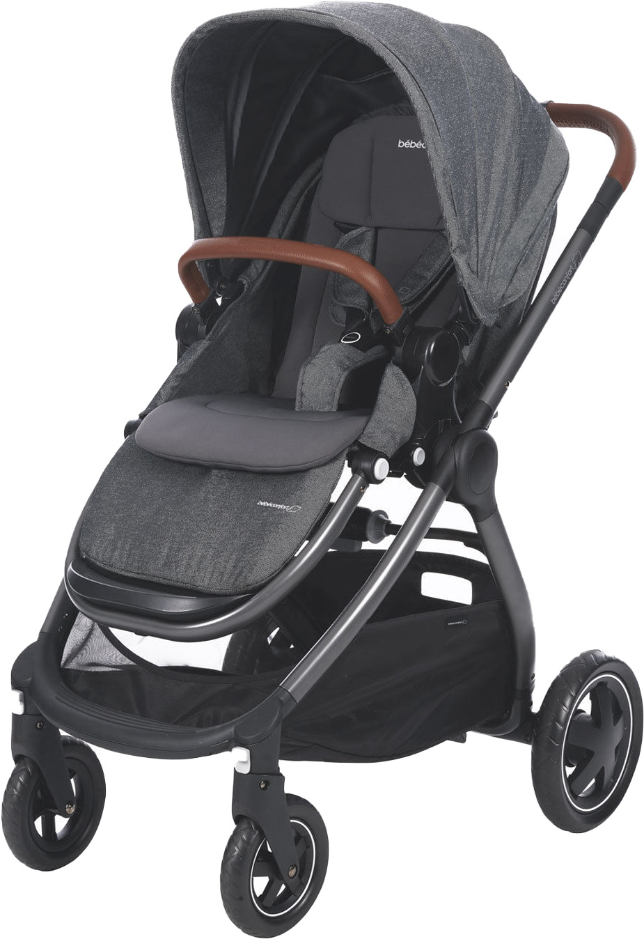 Коляска прогулочная Bebe Confort Adorra серый90635Новая коляска Adorra от Bebe Confort - это городская коляска будущего, с лучшим в своем классе комфортом для ребенка и простотой использования для родителей. Вы можете наслаждаться покупками в городе или долгими прогулками на природе. Ее тонкие и вездеходные колеса делают ее очень маневренной и проходимой. С удобной системой для путешествий можно передвигаться как в условиях города, так и по грунтовым дорогам. Всего за 2 клика добавьте к коляске Bebe Confort люльку, чтобы превратить Адорру в систему для путешествий 2-в-1, подходящую от рождения до 3,5 лет (0-15 кг).Дорогие, выдержанные цвета подчеркиваются алюминиевым каркасом и стильной кожаной отделкой с тисненым логотипом Bebe Confort.Стильная коляска премиум класса Adorra от Bebe Confort является членом Вашей семьи.Характеристики:• Прогулочный блок устанавливается в 2-х направлениях: лицом к маме и по ходу движения. Изготовлен из высококачественных, экологически чистых, прочных материалов. Практичная, непромокаемая и не продуваемая обивка легко снимается для чистки или стирки при температуре воды 30? С.• Сиденье эргономичной формы, удобное и комфортное, имеет несколько положений наклона, включая положение «лежа» для сна.• 5-ти точечные ремни безопасности с мягкими накладками, легко регулируются по высоте.• Съемный поручень и разделитель для ножек позволяет малышу легко выбраться из коляски и самостоятельно забраться в нее.• Регулируемый капюшон надежно защищает малыша от солнечных лучей (УФ 50+) и непогоды.• Удобная и рег...