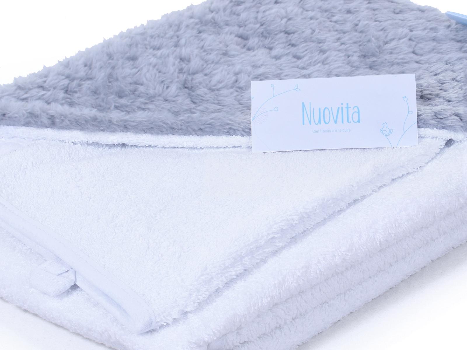 Полотенце с капюшоном Nuovita махра/плюш-соты NUOVITA