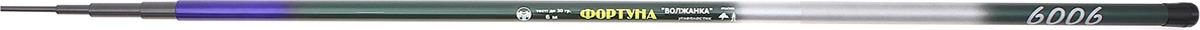 Удилище телескопическое Волжанка Фортуна, 6 секций, 1096545, 6,0 м, до 30 г1096545Волжанка разработано специально для ловли крупных экземпляров в береговой зоне и потому имеет высокий для маховой модели тест: 30 грамм. Такая мощность обусловлена сочетанием высококачественного графита и прочного стекловолокна в составе с дополнительным защитным покрытием. Кроме того, конструкторы уделили особое внимание надёжности комлевого колена и балансу удилища. Это прекрасный бюджетный вариант, который не разочарует вас своим качеством.