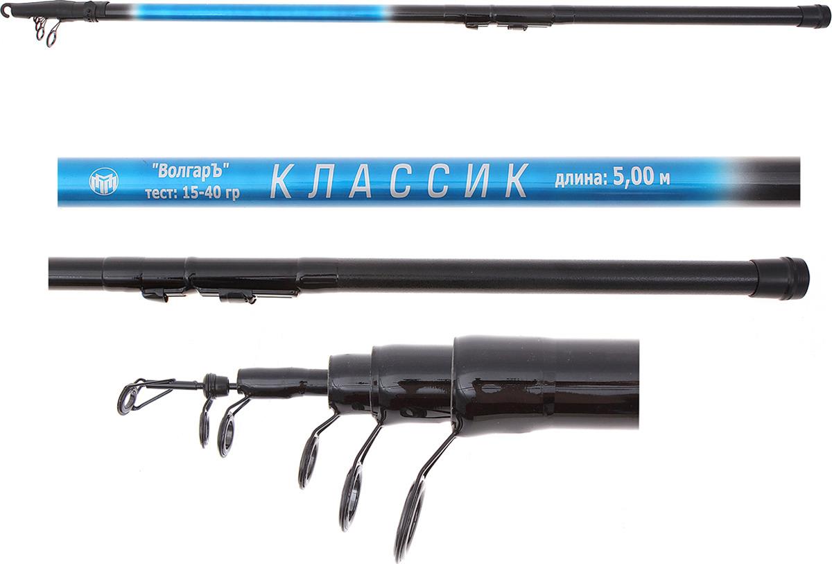 Удилище телескопическое Волжанка Волгаръ Классик, 5 секций, 1096591, 5,0 м, до 40 г