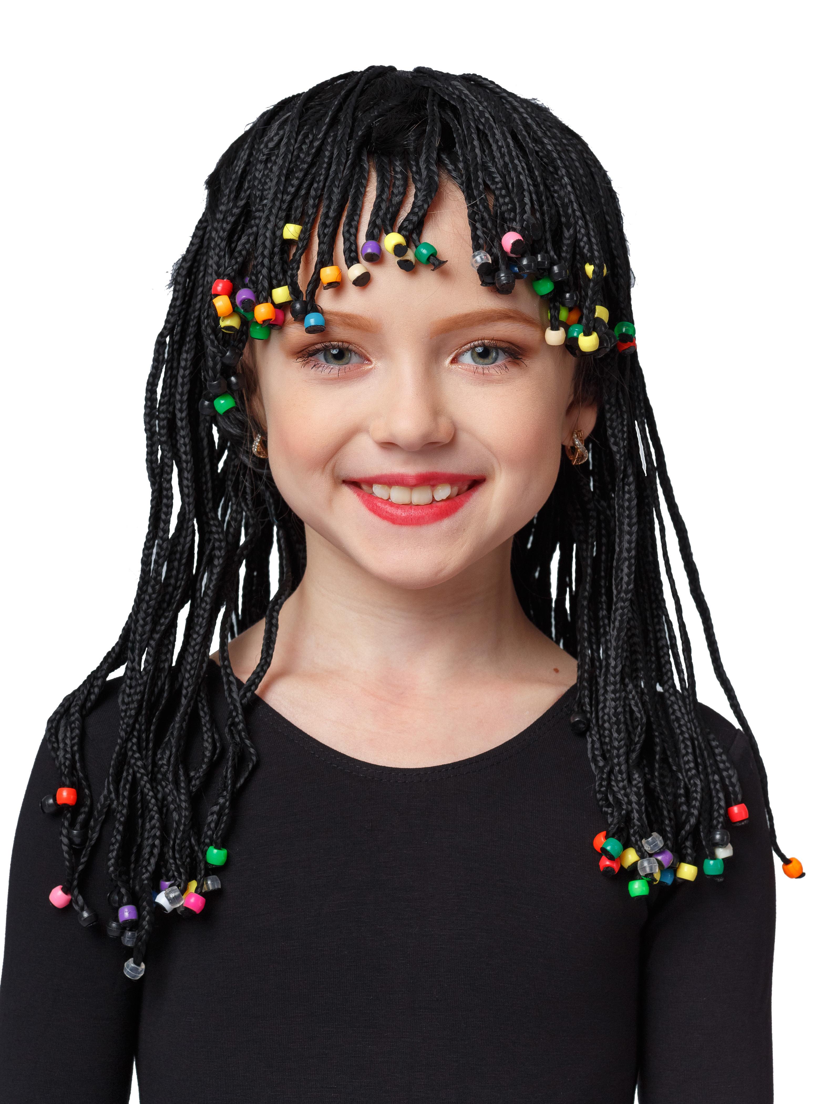 Фото - Аксессуар для карнавального костюма Gala-Вальс Парик Африканские косички, черный парик косплей cosleader perucas sallei peluca wig 028a