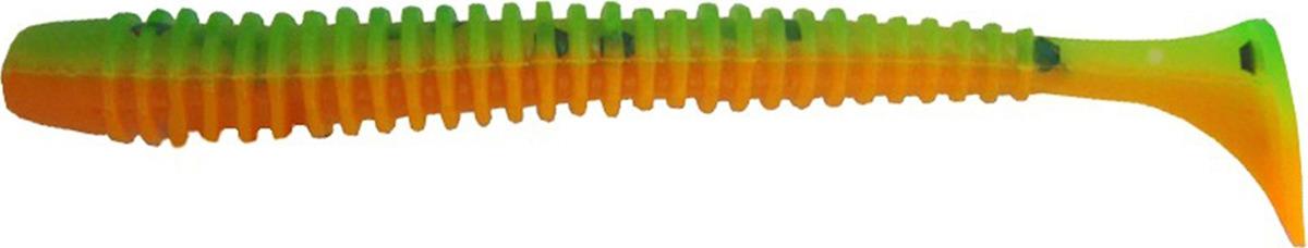 Виброхвост Helios Liny Catcher 6 см HS-5-018, 2170871, зеленый, оранжевый, 12 шт